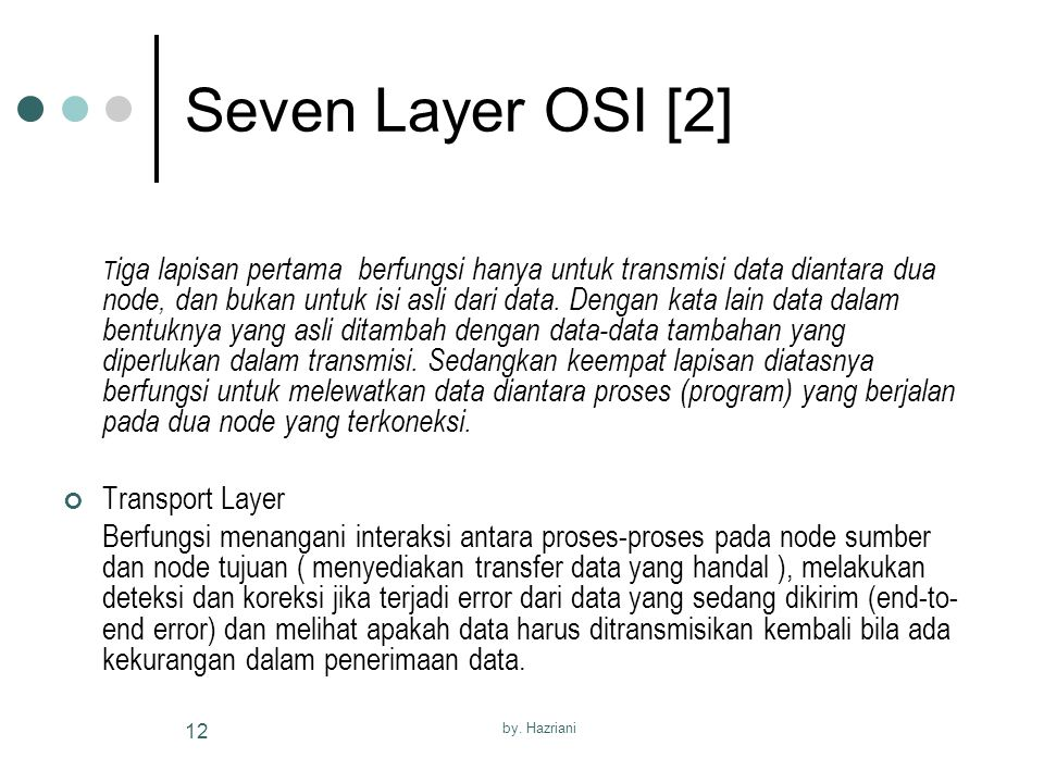 Seven Layer OSI [2] Transport Layer